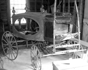 The hearse in its Old Town Hall location.