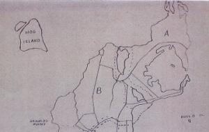 Hog Island on Edward West's map