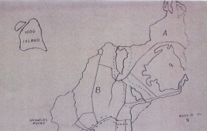 Hog Island on Edward West's map