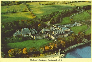 Aerial View postcard of Elmhurst School from Collection of G. Schmidt