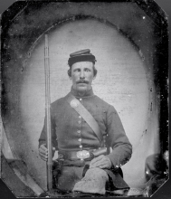 David Durfee Sherman in Civil War Uniform