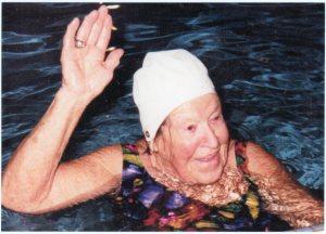 Ruth Earle in pool